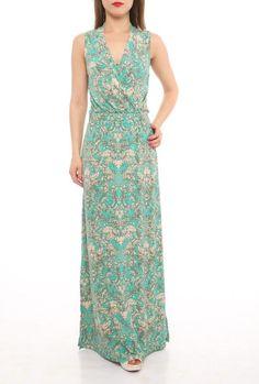 Aqua Sexy Sommer Print Maxi Kleid