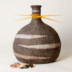 Sculptural Felt — Karen Waters Art Nuno Felting, Needle Felting, Wet Felting Projects, Felt Projects, Textile Fiber Art, Fibre Art, Felt Pillow, Felt Hearts, Crafts To Make