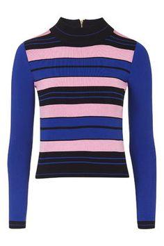 Hyper Colour Stripe Top