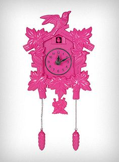 pink cuckoo clock... it doesn't go with anything in my house, otherwise I would buy it!