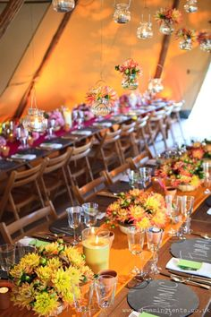 Table decorations in a gorgeous tipi #tipiwedding