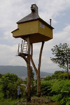 Japanese treehouse... just how stable is this???