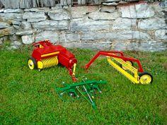 Custom built hay equipment for pedal tractors