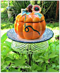 Pumpkin Garden Stake  As Featured in Flea by GardenWhimsiesByMary, $35.00