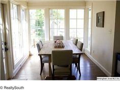 Beautiful window-filled dining room