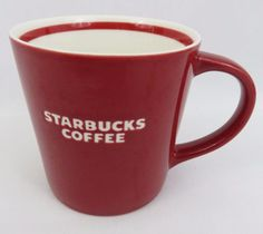 """This is a pretty Starbucks 2006 Coffee Mug. It's large size is great for the serious coffee drinker! SIZE: 16 oz, 4 1/8""""H x 4""""Diameter at top. HANDLE: The handle is large and comfortable.   eBay!"""
