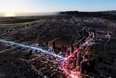 Future visions for aligning mobility and development – LA Forward. Image © Gensle...