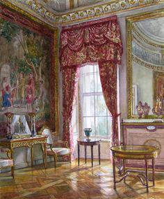 Interiors of Russian farm by Natalia Leonova - Old Samovar