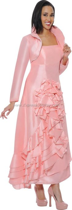 Magenta 2 Piece Church Dress By Nubiano DN542 - Divine Church Suits ...