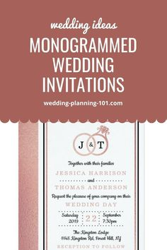 Get ideas and see photos of monogrammed wedding invitations today. #MonogrammedWeddingInvitations #MonogrammedWeddingStationery #WeddingInvitations #WeddingInvitationIdeas #WeddingStationery