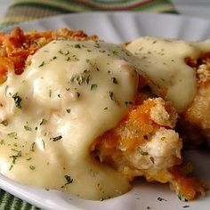 crispy cheddar chicken recipe, with a substitution for the ritz crackers to make it Gluten Free!