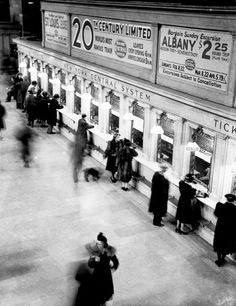 grand central station ticket windows, nyc, c. 1930