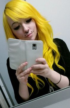 colored colorful dyed hair