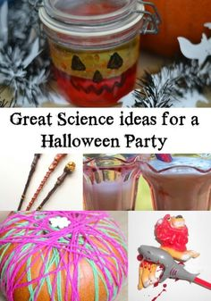 Great Ideas for a Halloween Party - fun ideas for a Halloween party, includes fizzy potions, pumpkin lava lamps, magic wands and Halloween Science, Halloween Activities For Kids, Halloween Party Games, Diy Halloween Decorations, Easy Crafts For Kids, Easy Halloween, Halloween Crafts, Fall Decorations, Fall Crafts