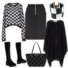 A quadretti bianchi e neri  outfit donna Urban per tutti i giorni  746df891bbd