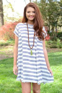 Laney Stripe Swing Dress from Page 6 Boutique