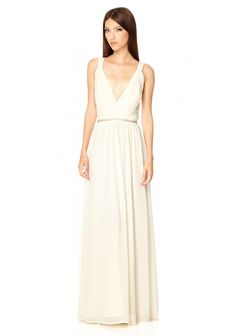 The Jarlo London Cristobel Dress in ivory is a truly stunning Grecian bridal gown.  We are loving the plunging v neck which really transforms this wedding dress into a sizzling hot glamour puss gown.  At a teeny tiny £85 it would be incredibly rude not to snap this baby up.   Just don't burn those pingies.
