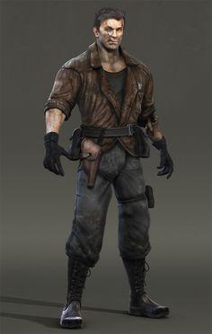 .jeu vidéo : Resident Evil Outbreak / perso : Gnomon Character by Ian Joyner / http://kingmob.cgsociety.org/art/gnomon-3ds-max-scar-bodypaint-hero-brazil-r-s-zbrush-character-380928