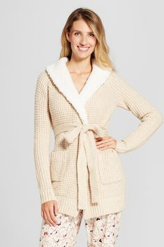 Women's Sweater Wrap with Sherpa Collar // affiliate link