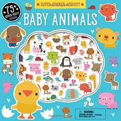 Whether it's a playful puppy or a curious kitten, Super Sticker Activity: Baby Animals is full of adorable and amusing baby animal activities. The activity book is full of fun and easy activities for children ages 3 and up. Animal Activities, Book Activities, Activity Books, Snuggle Bear, Baby Dolphins, Miami Dolphins, Baby Night Light, Baby Pool, Baby Bibs