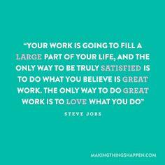 I love what I do!