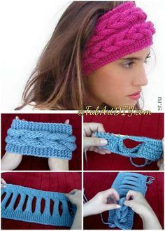 DIY Knitted Faux Braid Headband Free Pattern (Video) - Her Crochet Diy Crafts Knitting, Diy Crafts Crochet, Knitting Blogs, Loom Knitting, Free Knitting, Knitting Patterns, Crochet Patterns, Crochet Headband Pattern, Knitted Headband
