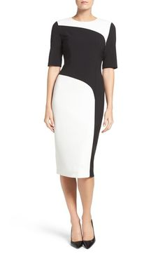 Maggy London Colorblock Midi Dress available at #Nordstrom
