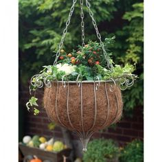LAURA ASHLEY Hanging Basket. At www.REDNOOK.com