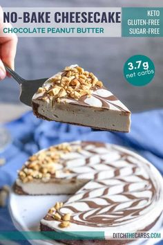 🍫 The BEST Keto Chocolate Peanut Butter Cheesecake (No-Bake): Discover the BEST Keto chocolate peanut butter cheesecake ... the perfect no-bake treat for peanut butter lovers! Sugar-free and gluten-free. #ditchthecarbs #lowcarblibby #ketolibby #quickeasyketodessert #ketocheesecakerecipes #cheapketodessertrecipes #cheaplowcarbcheesecakerecipe #ketocheesecakes #ditchthecarbs #lowcarblibby #ketolibby #quickeasycookingvideos #easyketorecipevideos #easylowcarbrecipevideos Easy Summer Desserts, Keto Dessert Easy, Dessert Recipes, Atkins Recipes, Low Carb Recipes, Free Recipes, Low Carb Sweets, Low Carb Desserts, Gluten Free Chocolate