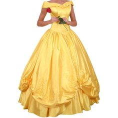 Disney Belle Dress from Beauty and the Beast ($450) ❤ liked on Polyvore