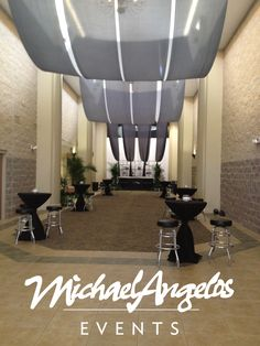 Make a statement with a custom fabric treatment with MichaelAngelos Events!
