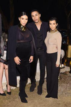 0c22c6f0 Kim Kardashian, Olivier Rousteing and Kourtney Kardashian - ELLE.com Kim  Kardashian Sheer,