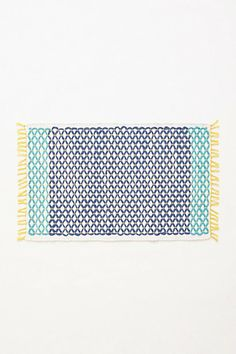 Netted Bathmat from Anthropologie. Shop more products from Anthropologie on Wanelo. Mediterranean Baths, Tropical Bath Mats, Blue Bath Mat, Blue Vanity, Tropical Bedrooms, Budget Bathroom, Bathroom Ideas, Bathroom Bath, Bedroom Seating