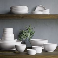 "British designer Martin Hunt - ""every bowl you'll ever need"" collection - Mix, serve, store, bake. Rounded, coupe & straight-sided porcelain bowls master kitchen tasks of all types, styled with clean lines & rolled rims that will find them doing double duty as serving pieces. Durable, versatile bowls come in a variety of sizes that nest for compact storage."