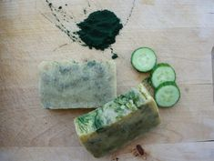 Natural Soap Acne Soap Spirulina Cucumber Neem and Tea by GaiaOlea