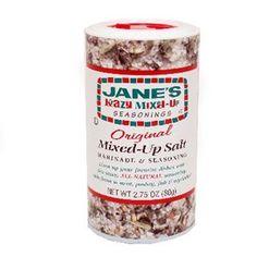 Jane's Crazy Salt Ingredients: 1/2 cup sea salt 1 tablespoon Accent, omit if msg bothers you 1 teaspoon dried dill weed 1 teaspoon black pepper 1 teaspoon onion powder 1/4 teaspoon garlic salt 1/4...