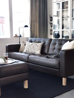 For leather lovers,  KARLSTAD also has you covered. Tufted, soft, hardwearing, easy care leather, that ages gracefully. Shown here: Grann brown
