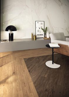 Arthis: dark and light shades combine themselves for a living room with a natural and elegant flavor, where you can fully feel fully at home. Wood Effect Porcelain Tiles, Exterior Solutions, Exterior Tiles, The Doors, Unique Colors, Light Shades, Home And Living, Living Room, Plank
