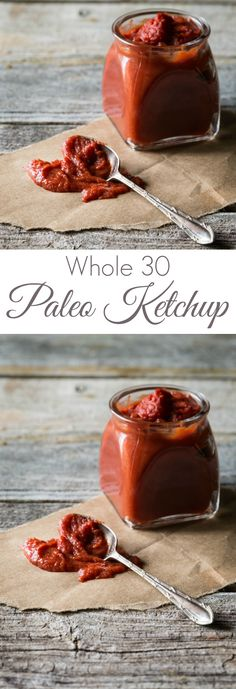Really easy No Cook Paleo Ketchup! Make it in minutes at a fraction of the cost of store bought Paleo Ketchup Whole 30 Compliant Paleo Whole 30 Diet, Paleo Whole 30, Whole 30 Recipes, Whole Food Recipes, Juice Recipes, Chutney, Paleo Ketchup, Whole 30 Ketchup Recipe, Low Carb Recipes