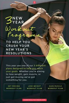 So, you've decided to make some changes this year and looking for a New Year workout plan to make your New Year's resolutions happen. In this article, you'll find 3 different plans to help you reach your goals. Whether you're aiming to lose weight, gain muscle, or just get moving, we've got something for you. #sunnyhealthfitness #workoutprogram #fitnessprogram #newyearnewyou #newyearworkoutprogram Wellness Fitness, You Fitness, Health Fitness, Flexibility Training, Strength Training, Workout Schedule, Workout Challenge, Lose Weight, Weight Loss