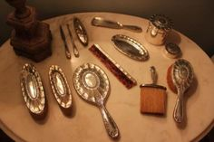 Antique Tiffany & Co Sterling Silver 13 Piece Dresser/Vanity Set Circa 1909