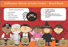 15 word work/ Halloween spelling packet by SpellingPackets.com  from SpellingPackets com on TeachersNotebook.com -  - 15 words related to Halloween- 20 activities of word work - 46 pages of fun and learning :o) Great packet to get your students to learn Halloween words.