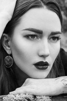 Mariya Tatarnikova lenses Margarita Zagoskin in the Altai mountains for The Forest Ova, Fairy Tales, Mountain, Magazine, Drop Earrings, Portrait, Photography, Beautiful, Style