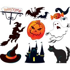Vector halloween design symbols good for poster and greeting card design
