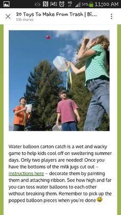 Milk jug. Water balloon