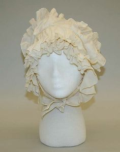 Many of the women wore caps similar to this in the 1830's although cotton was a bit expensive for the lower class.