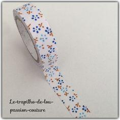 1 Rouleau de Ruban adhésif en tissus imprimé liberty 4 mètres minimum : Rubans par le-trapilho-de-lou-passion-couture