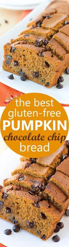The Best Gluten-Free Pumpkin Chocolate Chip Bread! Incredibly flavorful and…