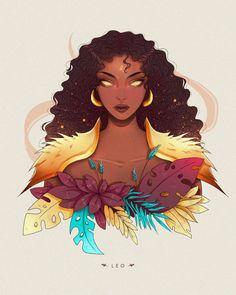 Leo by Yokailia on DeviantArt Capricorn Art, Astrology Leo, Zodiac Art, Leo Zodiac, Zodiac Characters, Black Girl Art, Zodiac Star Signs, Digital Art Girl, Dark Fantasy Art