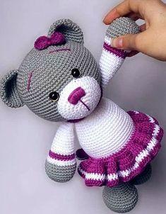 Crochet bear amigurumi – free crochet pattern for this adorable little bear. Crochet bear amigurumi – free crochet pattern for this adorable little bear. How to Crochet a Bear - Crochet Ideas Crochet pattern: Little Dragon – Salvabrani – Mateja Kl Crochet Animal Patterns, Crochet Doll Pattern, Crochet Patterns Amigurumi, Stuffed Animal Patterns, Amigurumi Doll, Crochet Dolls, Crochet Appliques, Plush Pattern, Knitted Dolls